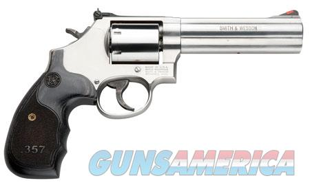 """Smith & Wesson 150854 686 Plus Single/Double 357 Magnum 5"""" 7 rd Wood Grip Stainless Steel  Guns > Pistols > Smith & Wesson Revolvers > Full Frame Revolver"""