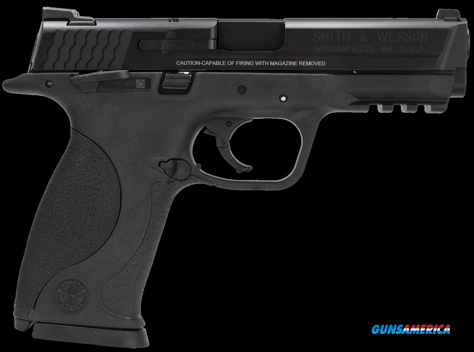 "Smith & Wesson 206301 M&P 9 Double 9mm Luger 4.25"" 17+1 Black Interchangeable Backstrap Grip Black  Guns > Pistols > S Misc Pistols"