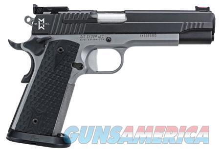 "Sig Sauer 19119MAXM 1911 Full Size MAX Single 9mm Luger 5"" 8+1 Black Hogue Custom G10 Grip Black  Guns > Pistols > S Misc Pistols"