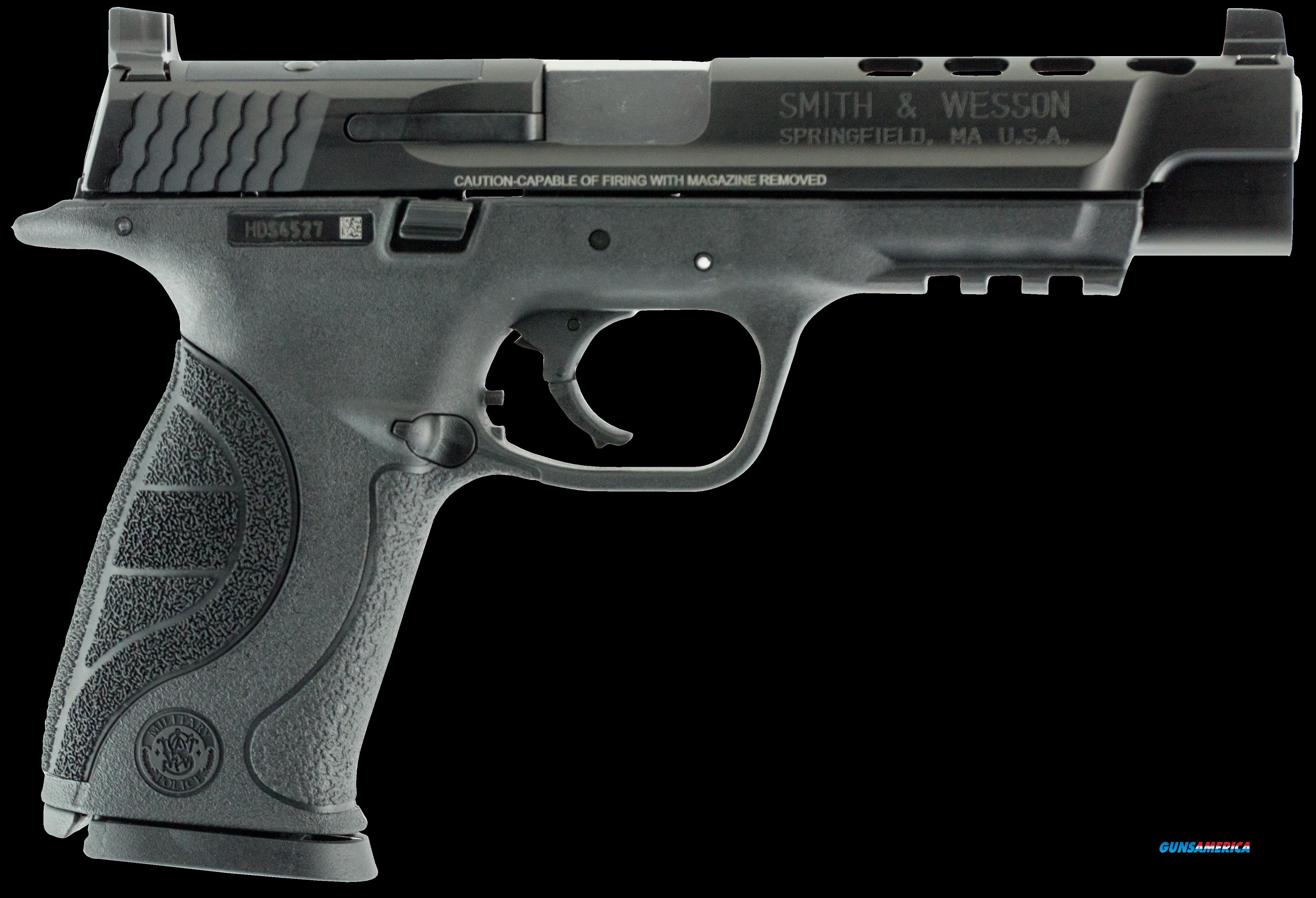 "Smith & Wesson 10100 M&P 40 Double 40 Smith & Wesson (S&W) 5"" Ported 15+1 Black Interchangeable  Guns > Pistols > S Misc Pistols"