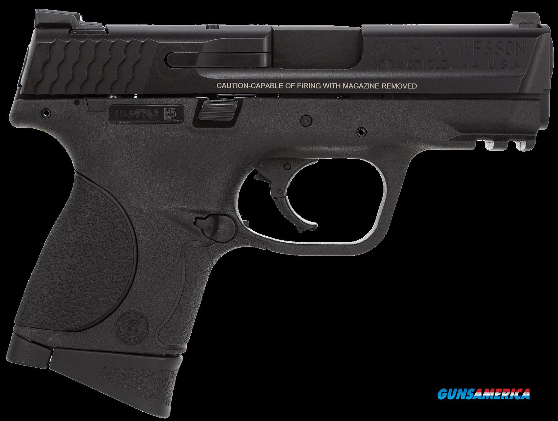 "Smith & Wesson 220074 M&P 9 Compact Double 9mm Luger 3.5"" 12+1 Black Polymer/Crimson Trace Red Laser  Guns > Pistols > Smith & Wesson Pistols - Autos > Polymer Frame"