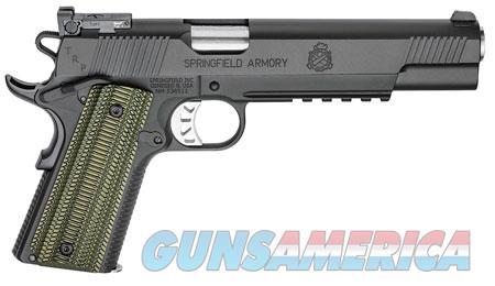 "Springfield Armory PC9610L18 1911 TRP 10mm Auto Single 6"" 8+1 Dirty Olive G10 Grip Black Steel Frame  Guns > Pistols > Springfield Armory Pistols > 1911 Type"