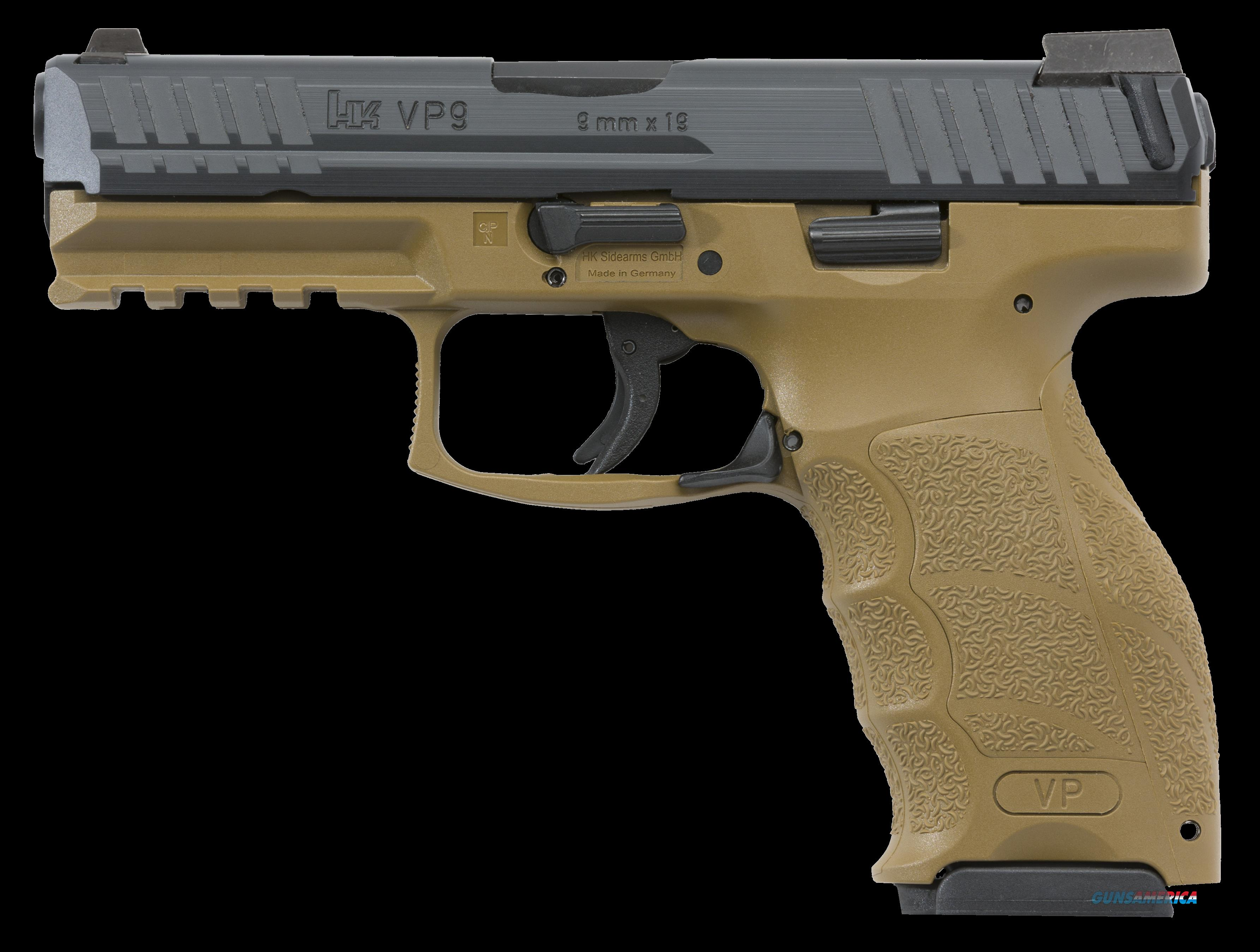 "HK 700040FDELEL VP40 Double 40 Smith & Wesson (S&W) 4.09"" 10+1 3 Mags NS FDE Interchangeable  Guns > Pistols > H Misc Pistols"
