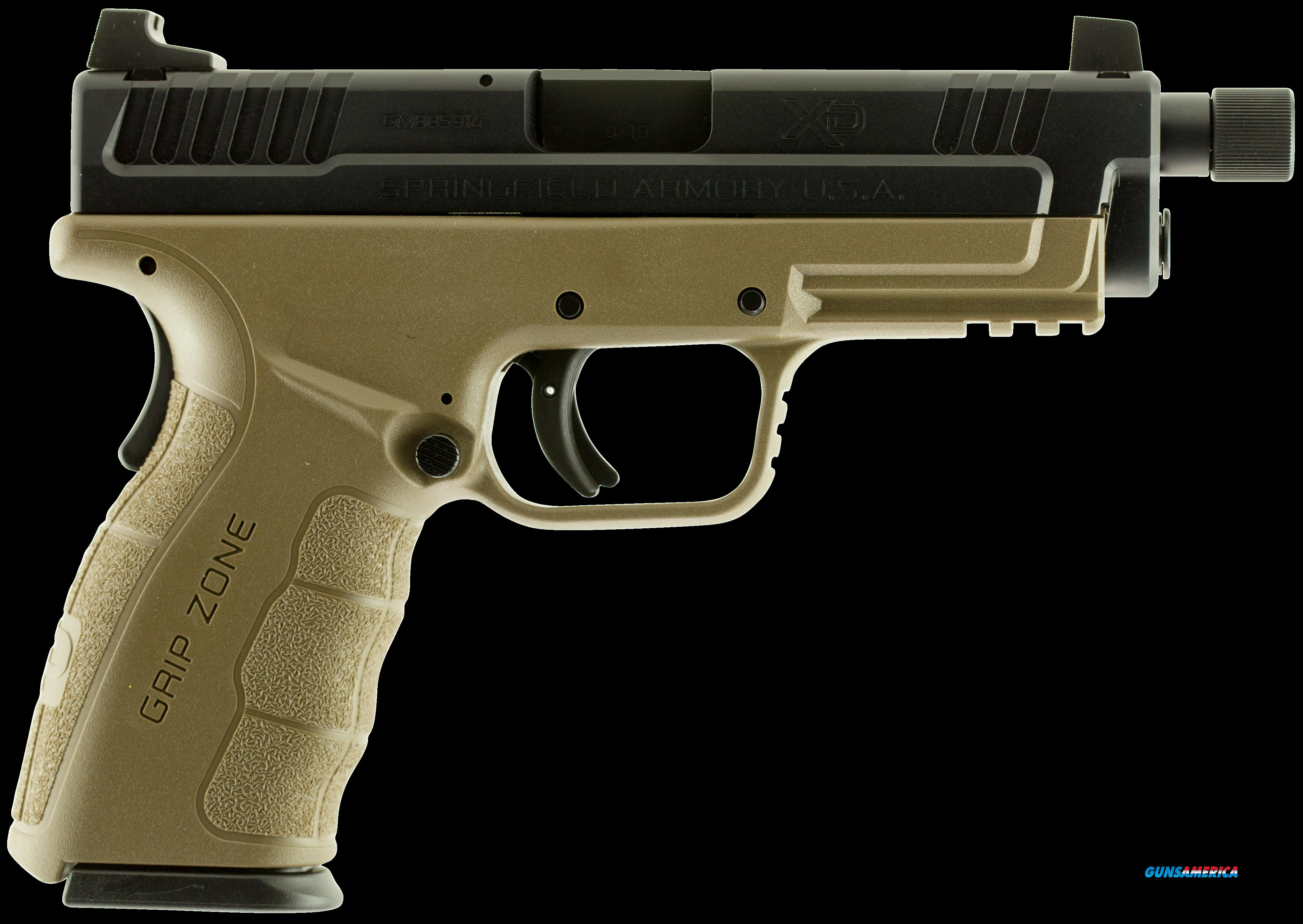 "Springfield Armory XDGT9101FDE XD Mod.2 Service Double 9mm 4.8"" TB 10+1 Flat Dark Earth Polymer Grip  Guns > Pistols > S Misc Pistols"