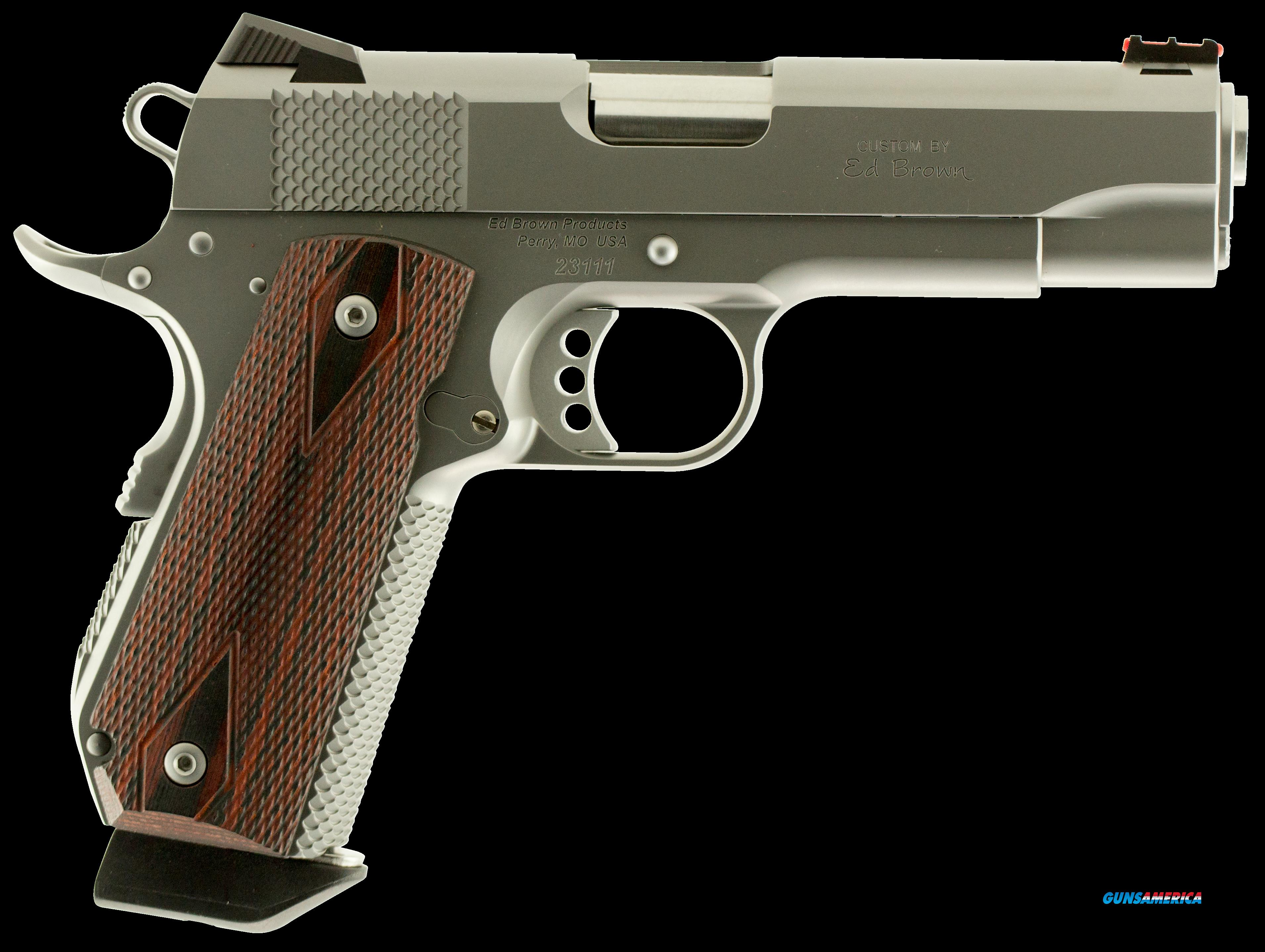 "Ed Brown KCSS9MM Kobra Single 9mm Luger 4.25"" 7+1 Laminate Wood Grip Stainless  Guns > Pistols > E Misc Pistols"