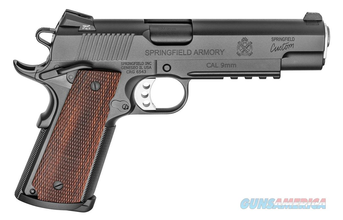 Springfield Armory 1911 9MM PRO MOD BK/WD LT RAIL 5 BBL | LIGHT RAIL FRAME  Guns > Pistols > Springfield Armory Pistols > 1911 Type