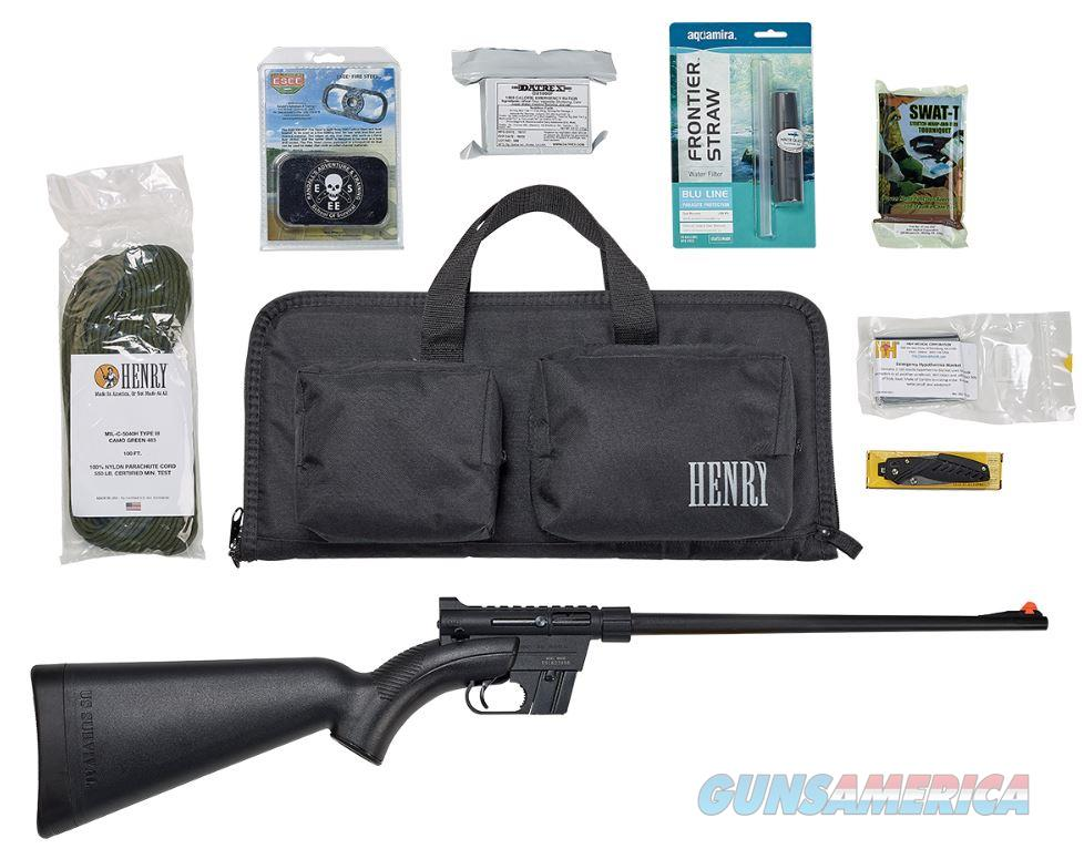 "Henry H002BSGB U.S. Survival Pack   Semi-Automatic 22 Long Rifle (LR) 16.125"" 8+1 Synthetic Black  Guns > Rifles > Henry Rifles - Replica"