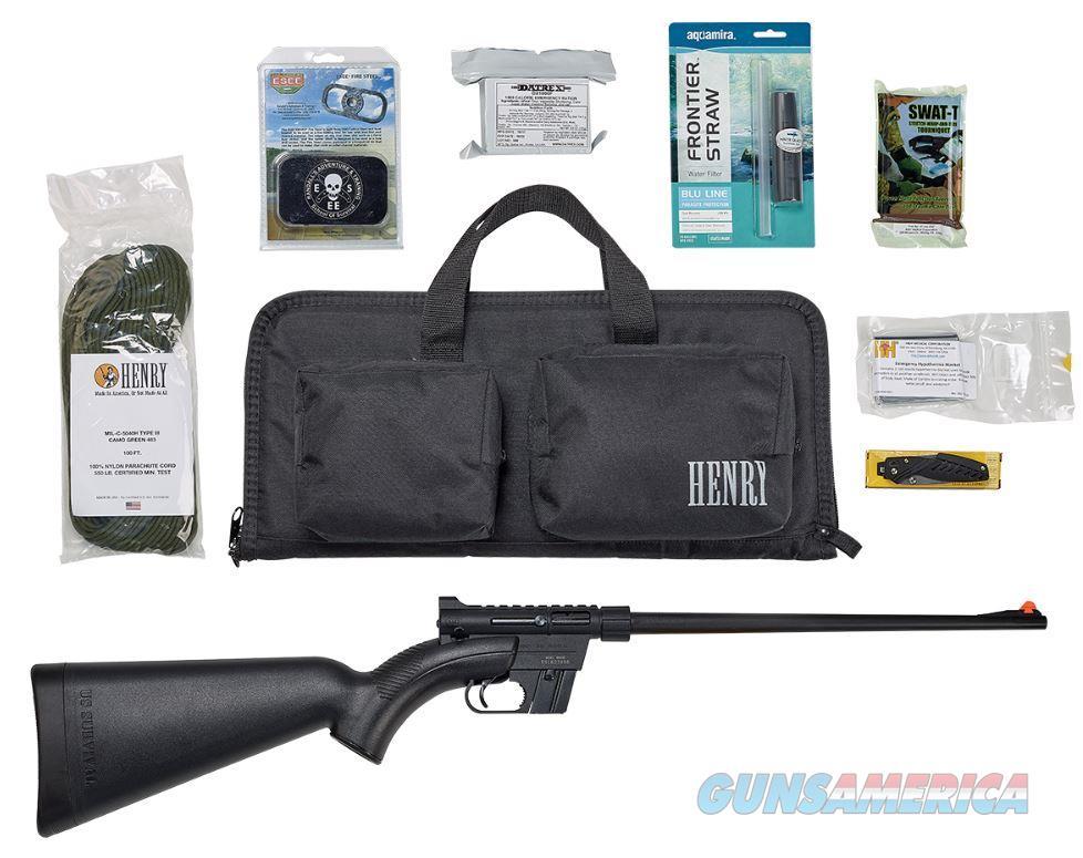"Henry H002BSGB U.S. Survival Pack   Semi-Automatic 22 Long Rifle (LR) 16.125"" 8+1 Synthetic Black  Guns > Rifles > Henry Rifles - Replica"