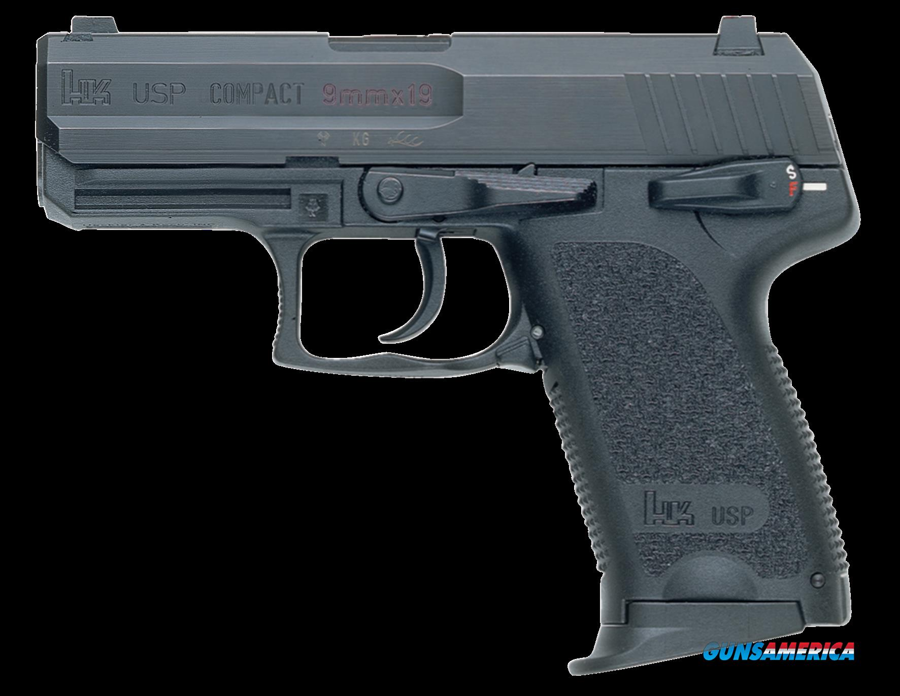 "HK 709031LELA5 UPS9C V1 3 Mags *CA Compliant* Single/Double 9mm 3.5"" 10+1 Blk Polymer Grip/Frame  Guns > Pistols > H Misc Pistols"