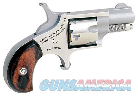"NAA 22S Mini-Revolver   Single 22 Short 1.13"" 5 Rd Rosewood Bird's Head Grip Stainless Steel  Guns > Pistols > North American Arms Pistols"