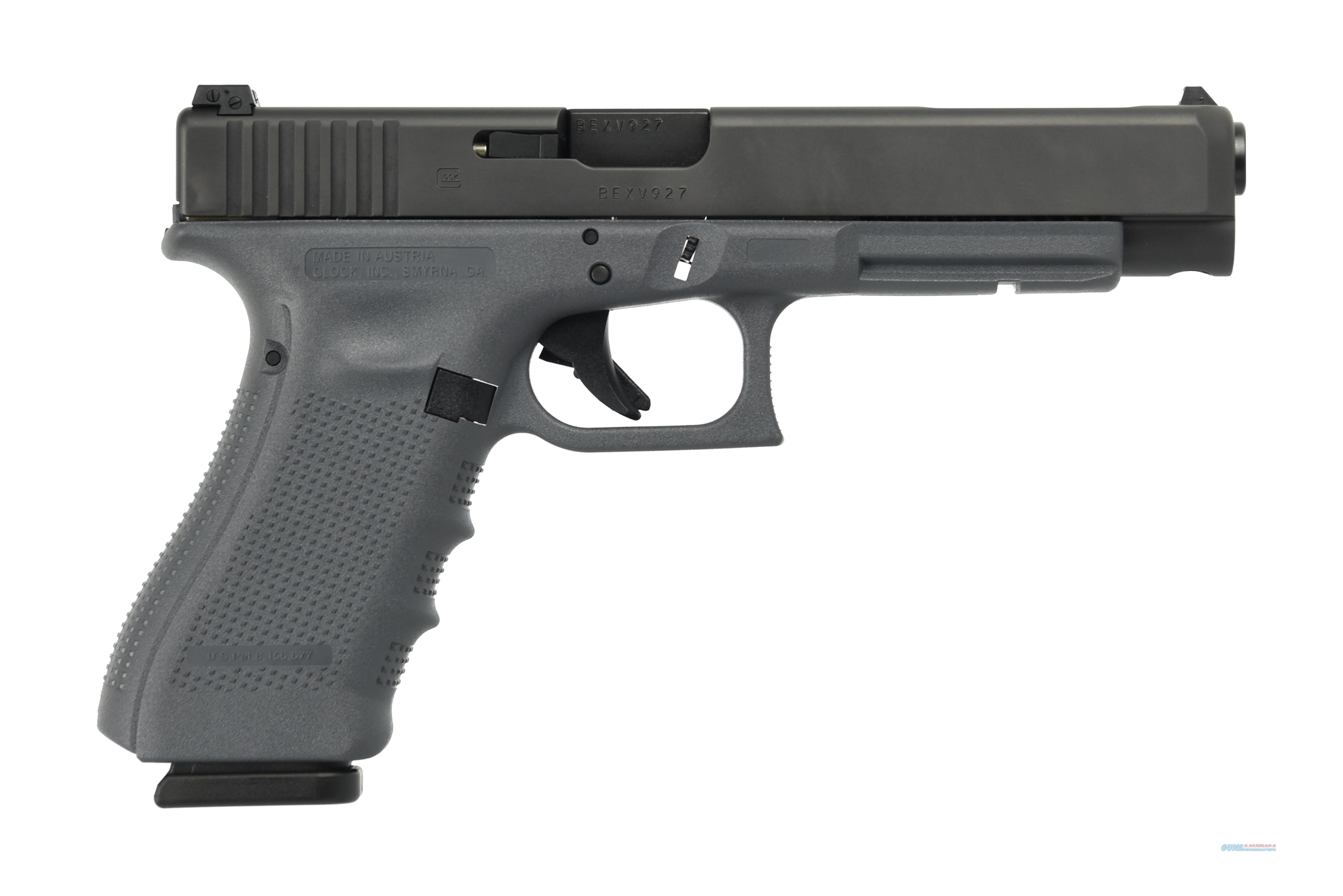 GLOCK G34 G4 GRAY 9MM 10+1 5.3 AS THREE 10RD MAGAZINES  Guns > Pistols > G Misc Pistols