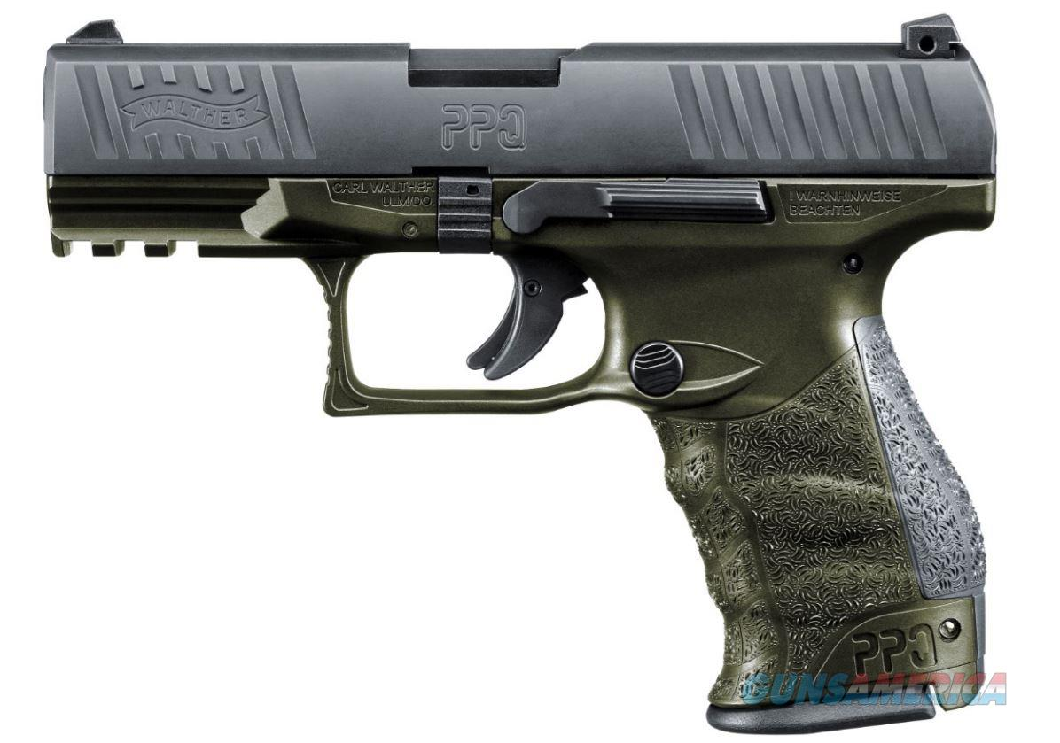 Walther Arms PPQ M2 9MM OD GREEN 15+1 4 2819252  STANDARD MAG RELEASE  Guns > Pistols > W Misc Pistols