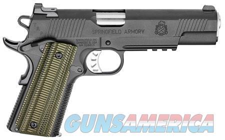 "Springfield Armory PC9510L18 1911 TRP 10mm Auto Single 5"" 8+1 Dirty Olive G10 Grip Black Steel Frame  Guns > Pistols > Springfield Armory Pistols > 1911 Type"