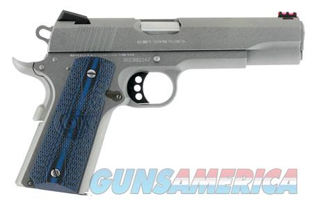 "Colt Mfg O1070CCS 1911 Competition 70 Series 45 ACP Single 5"" 8+1 Blue G10 w/Logo Grip Stainless  Guns > Pistols > C Misc Pistols"