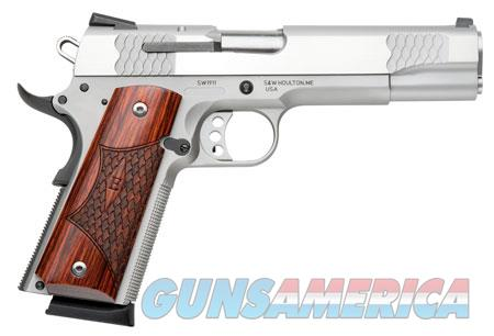 """Smith & Wesson 108482 1911 E Series 45 ACP Single 5"""" 8+1 Laminate Wood Grip Stainless Steel Slide  Guns > Pistols > Smith & Wesson Pistols - Autos > Steel Frame"""