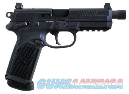 "FN 66981 FNX Tactical 45 ACP 5.30"" 10+1 Black Stainless Steel Black Interchangeable Backstrap Grip  Guns > Pistols > FNH - Fabrique Nationale (FN) Pistols > FNX"