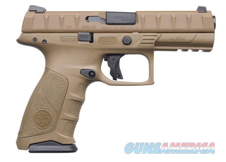 "Beretta USA JAXF92105 APX Full Size 9mm Luger Double 4.25"" 17+1 Flat Dark Earth Interchangeable  Guns > Pistols > Beretta Pistols > Polymer Frame"
