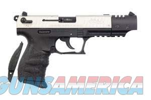"Walther Arms 5120337 P22 Target *CA Compliant* Single/Double 22 Long Rifle (LR) 5"" 10+1 Black  Guns > Pistols > Walther Pistols > Post WWII > P22"
