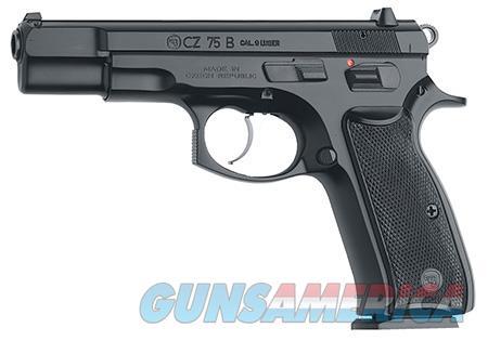 "CZ 91102 CZ 75 75-B 9mm Luger Single/Double 4.60"" 16+1 Black Synthetic Grip Black Slide  Guns > Shotguns > CZ Shotguns"