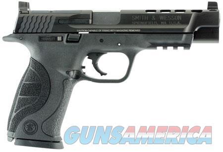 "Smith & Wesson 10100 M&P 40 Ported 40 S&W Double 5"" 15+1 Black Interchangeable Backstrap Grip Black  Guns > Pistols > Smith & Wesson Pistols - Autos > Polymer Frame"