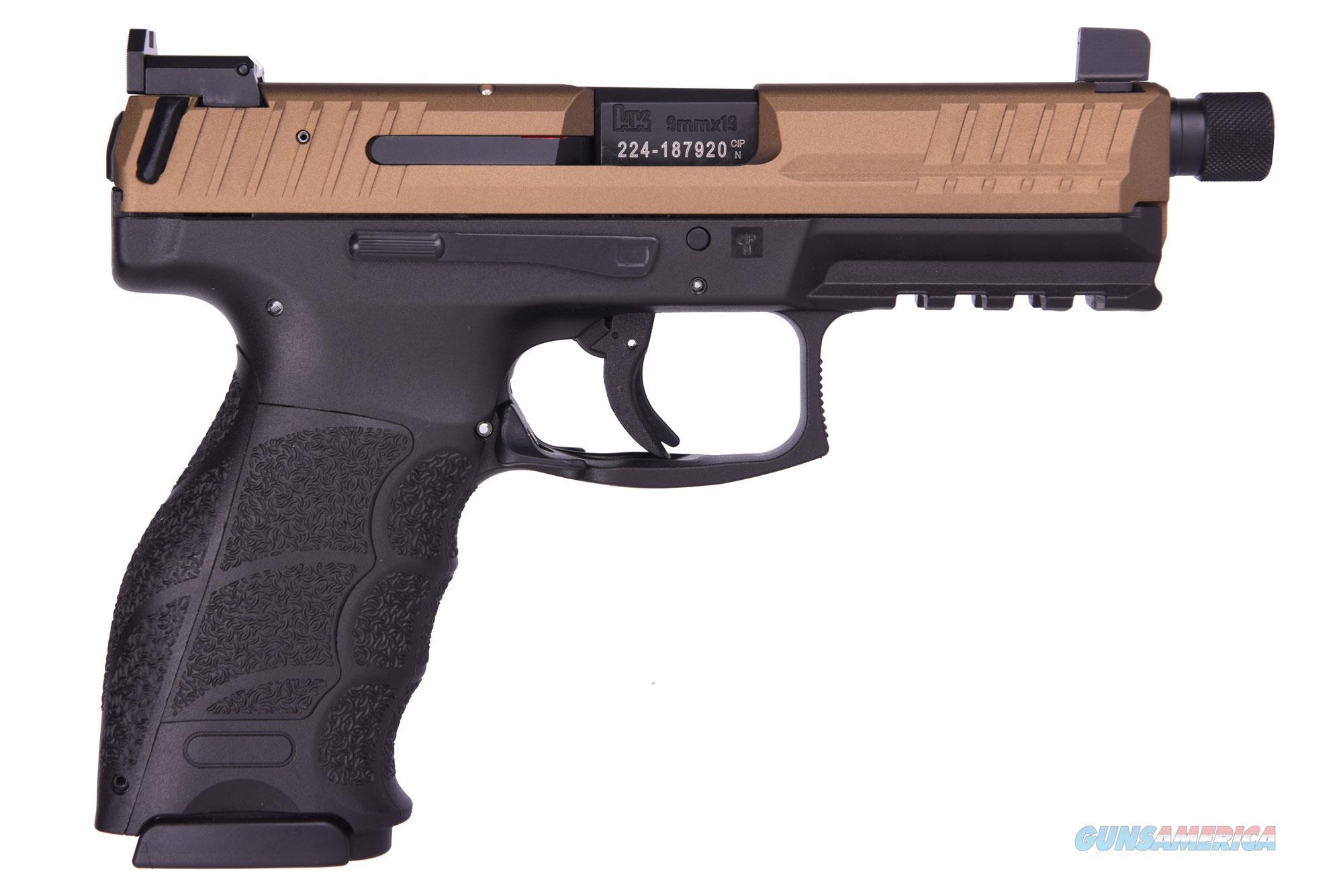 Heckler and Koch (HK USA) VP9 TACT 9MM BRNZ/BLK TB NS 81000179   3 MAGAZINES  Guns > Pistols > H Misc Pistols