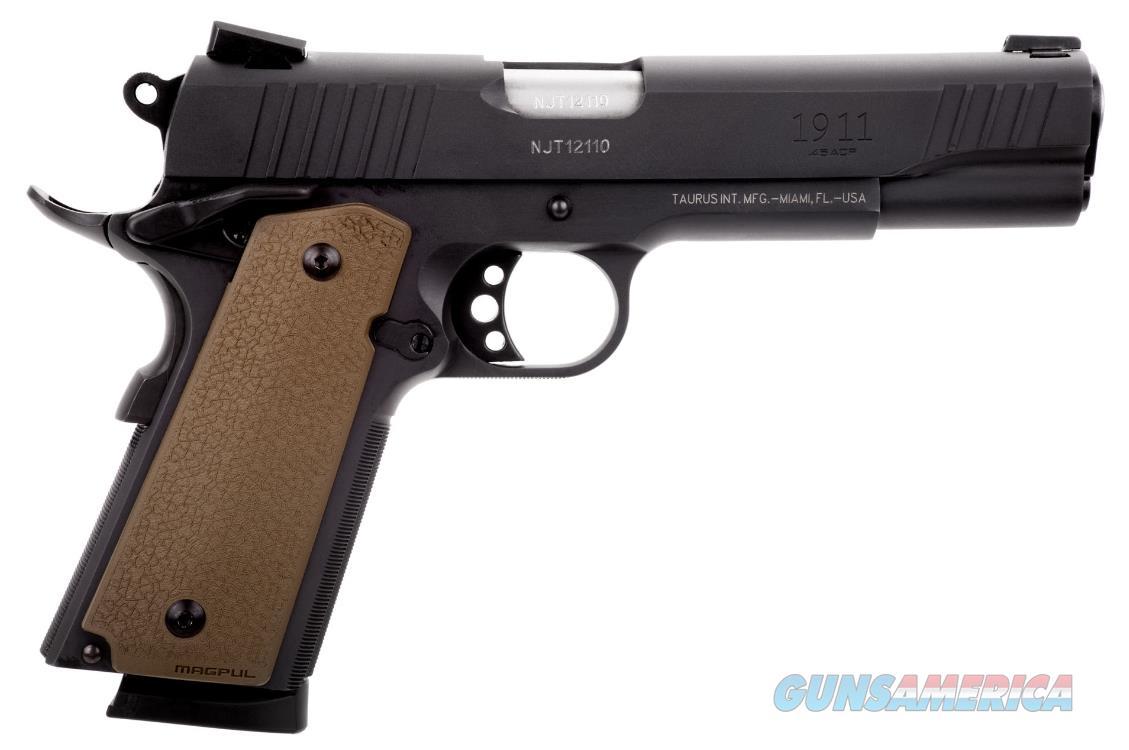 Taurus 1911 45ACP BLK/FDE MOE GRIP 5 1-191101FS-MOE  Guns > Pistols > TU Misc Pistols