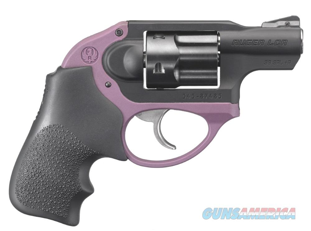 Ruger LCR 38SPC PURPLE/HOGUE 5RD DAO 5427  Guns > Pistols > R Misc Pistols