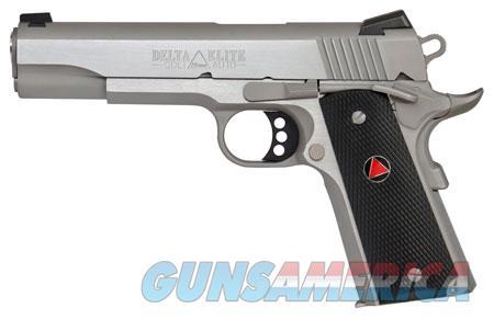 """Colt Mfg O2020XE 1911 Delta Elite  10mm Single 5"""" 8+1 Black Polymer Delta Medallion Grip Stainless  Guns > Pistols > C Misc Pistols"""