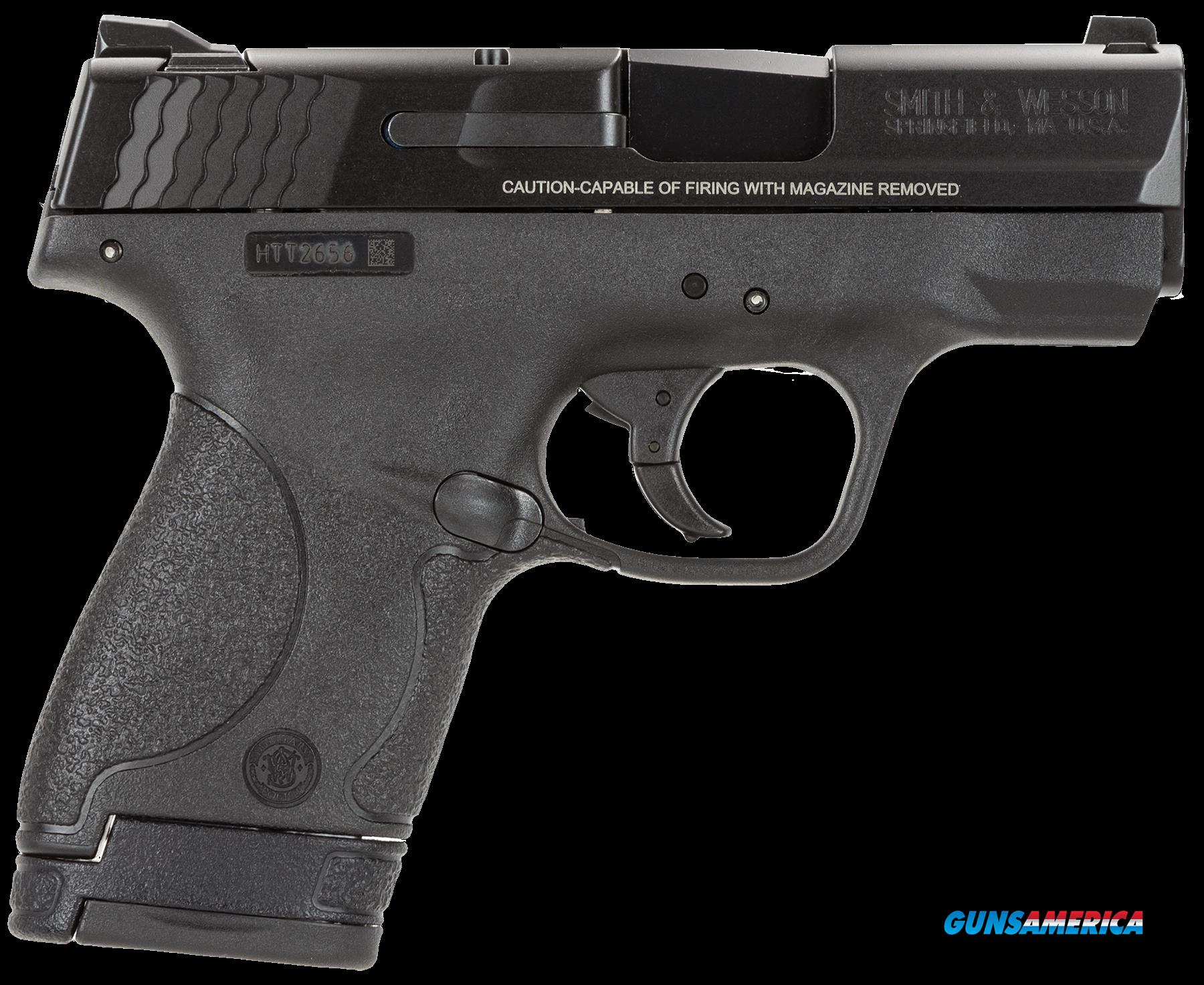 "Smith & Wesson 10035 M&P 9 Shield Double 9mm Luger 3.1"" 7+1/8+1 Black Polymer Grip/Frame Grip Black  Guns > Pistols > Smith & Wesson Pistols - Autos > Shield"