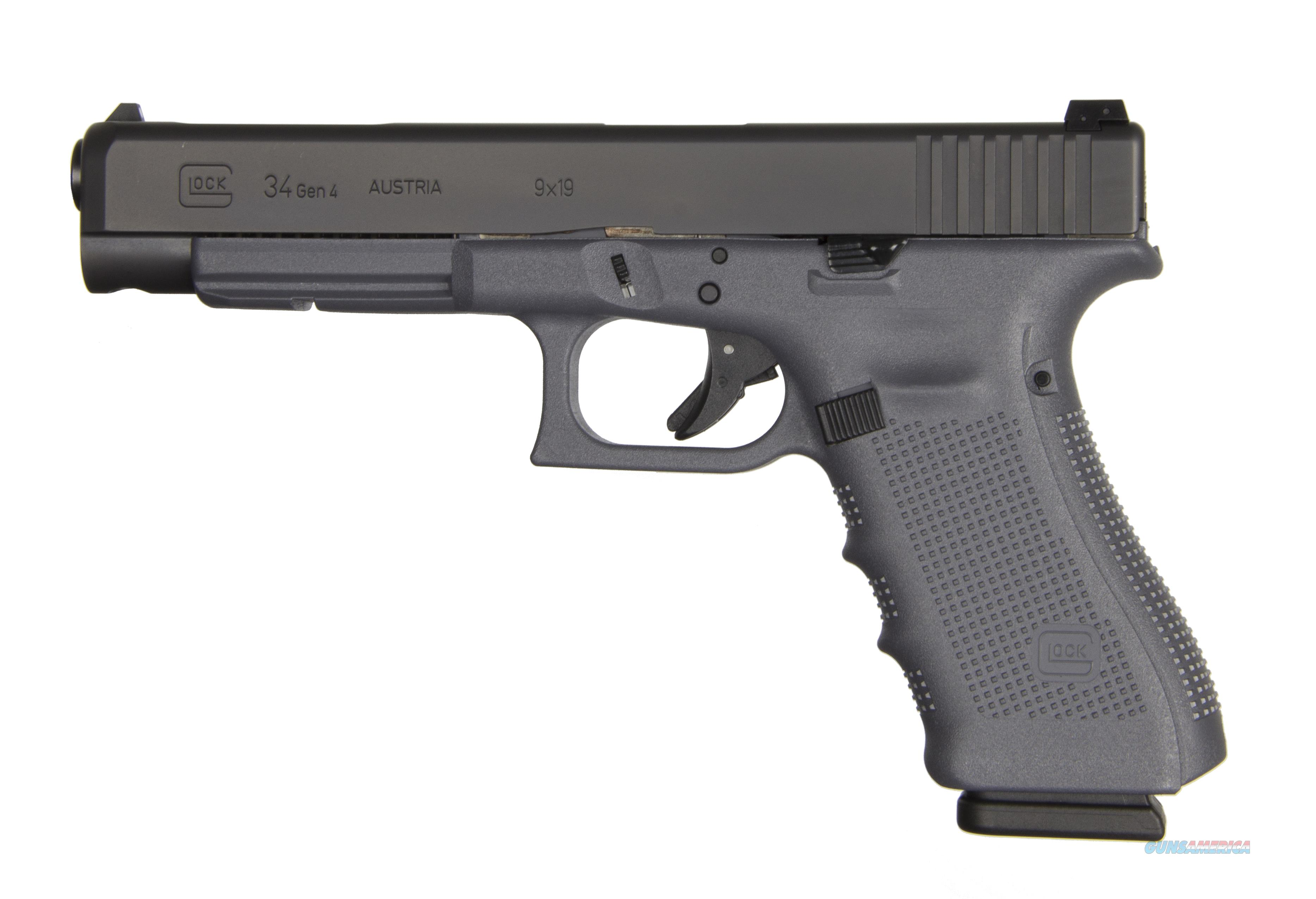 GLOCK G34 G4 GRAY 9MM 17+1 5.3 AS THREE 17RD MAGAZINES  Guns > Pistols > G Misc Pistols