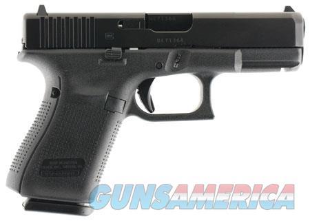 "Glock PA1950201 G19 Gen5 Double 9mm Luger 4.02"" 10+1 FS Black Interchangeable Backstrap Grip Black  Guns > Pistols > G Misc Pistols"