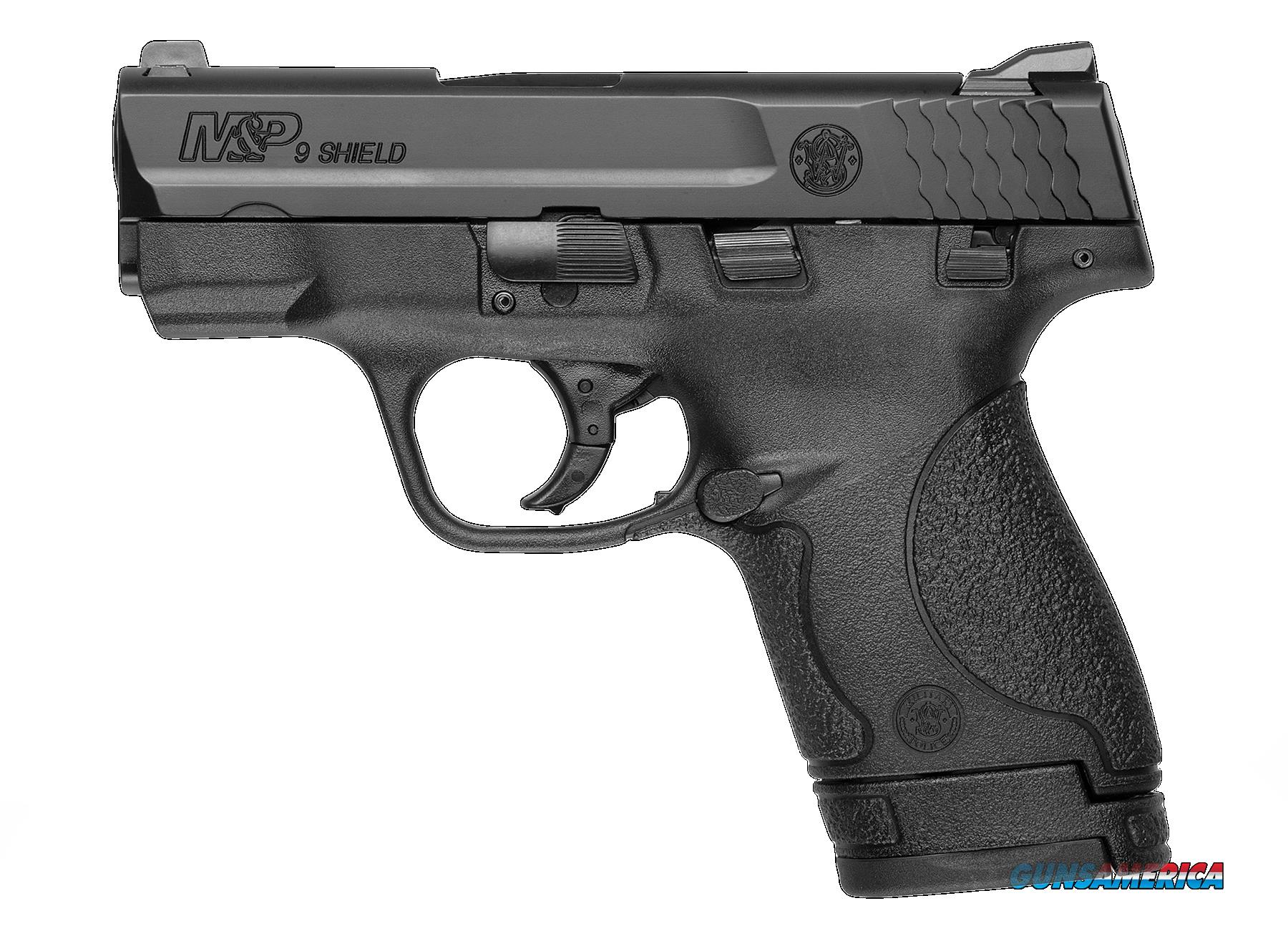 "Smith & Wesson 180051 M&P 9 Shield *MA Compliant* Double 9mm Luger 3.1"" 7+1/8+1 Black Polymer Grip  Guns > Pistols > S Misc Pistols"