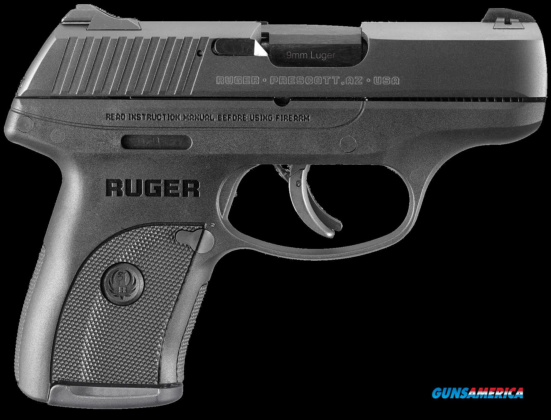 "Ruger 3235 LC9s Standard Double 9mm Luger 3.12"" 7+1 3-Dot Black Polymer Grip/Frame Grip Blued  Guns > Pistols > R Misc Pistols"