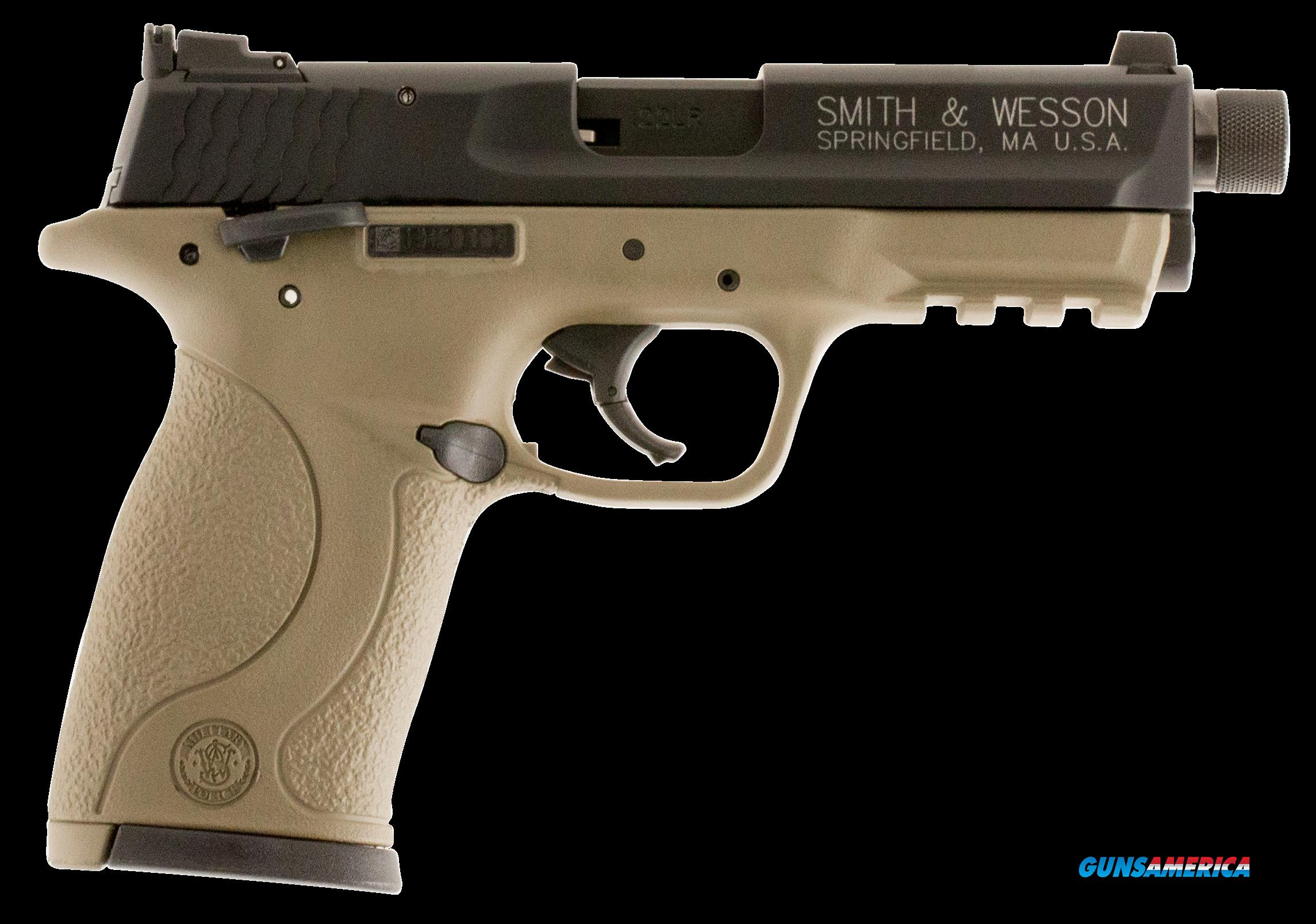 "Smith & Wesson 10242 M&P 22 Compact Single 22 Long Rifle (LR) 3.5"" TB 10+1 Flat Dark Earth Polymer  Guns > Pistols > S Misc Pistols"