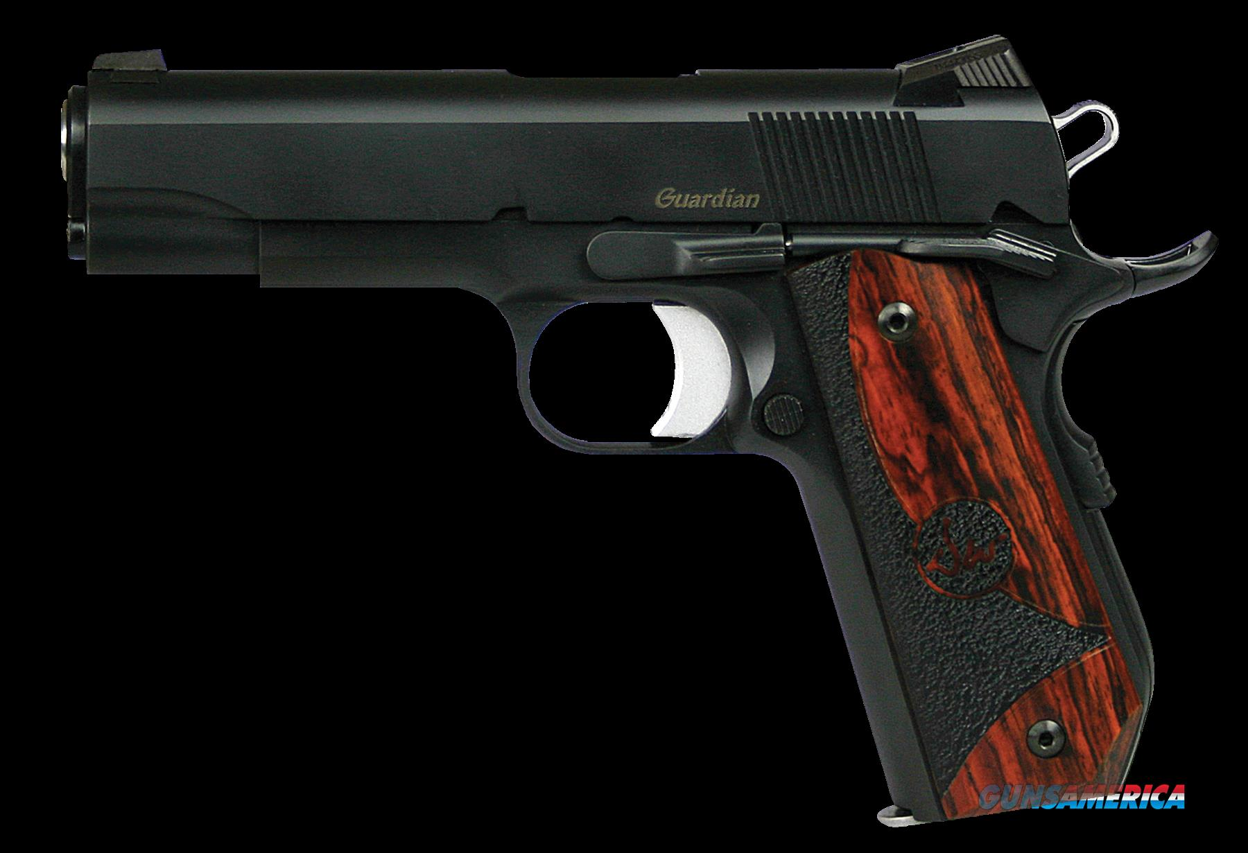 "Dan Wesson 01987 DW Guardian SAO 45 ACP 4.25"" 8+1 Wood Grip Black Finish  Guns > Pistols > D Misc Pistols"