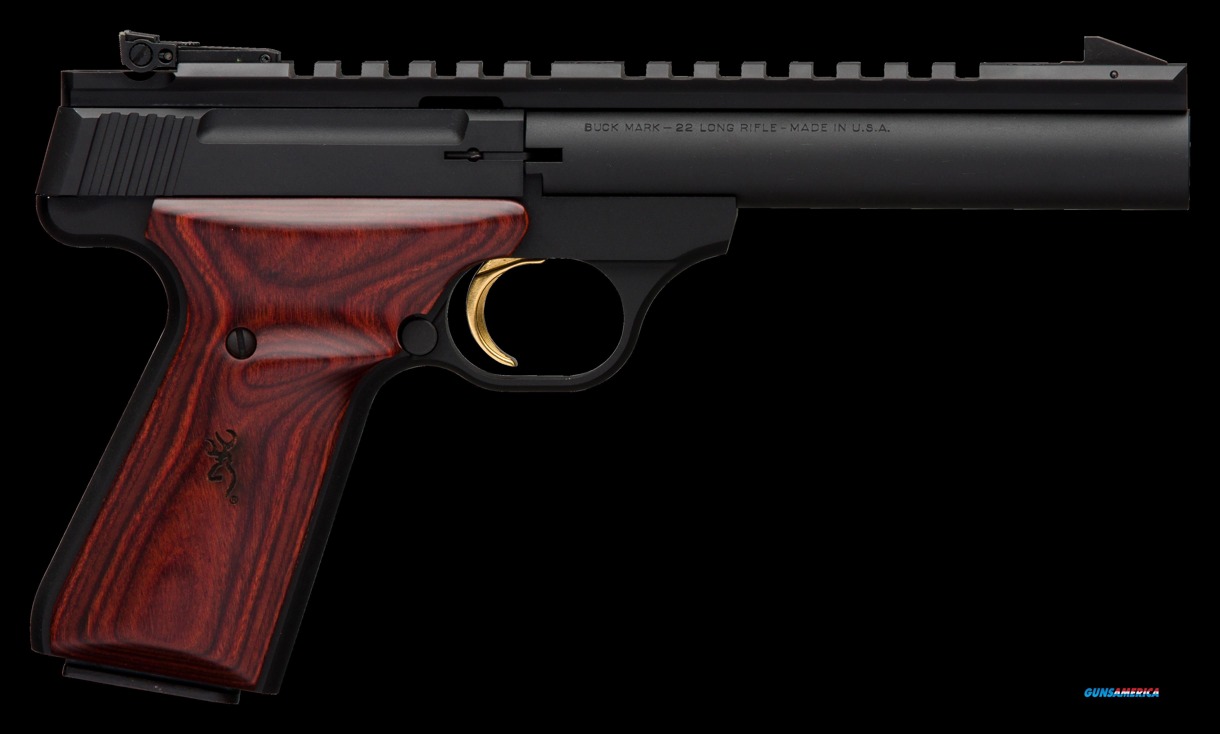 "Browning 051528490 Buck Mark Field Target Single 22 Long Rifle (LR) 5.5"" HB 10+1 Laminate Cocobolo  Guns > Pistols > B Misc Pistols"