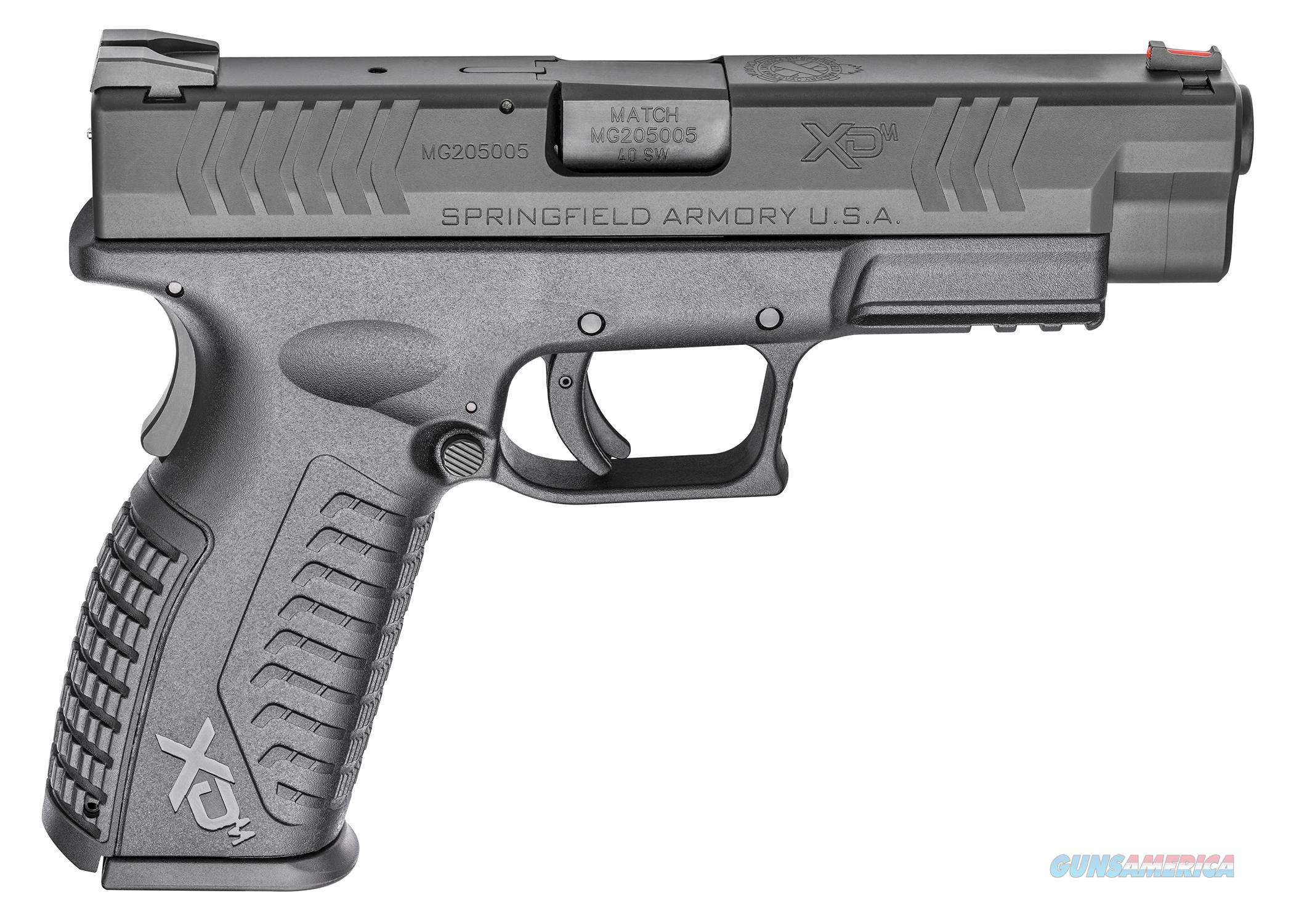 "Springfield Armory XDM9202HCE XD(M) Full Size 40 S&W 4.5"" 16+1 Black Interchangeable Backstrap Grip  Guns > Pistols > Springfield Armory Pistols > XD-M"