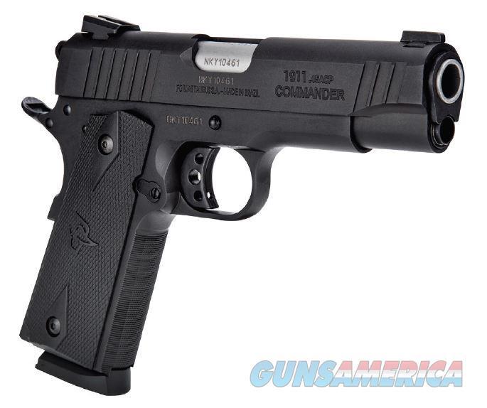 "Taurus 191101COM 1911 Commander Single 45 Automatic Colt Pistol (ACP) 4.2"" 8+1 Black Polymer Grip  Guns > Pistols > Taurus Pistols > Semi Auto Pistols > Steel Frame"