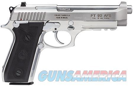 "Taurus 192015917 92 9mm 5"" 17+1 FSBlk Poly Grip Stainless  Guns > Pistols > Taurus Pistols > Semi Auto Pistols > Steel Frame"