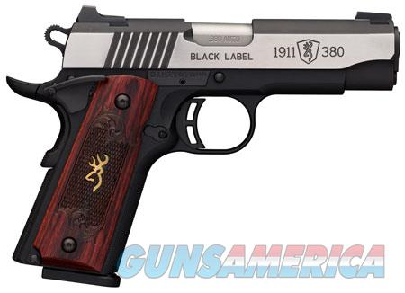 Browning 051915492 1911-380 Black Label Medallion Pro Compact Single 380 Automatic Colt Pistol (ACP)  Guns > Pistols > B Misc Pistols
