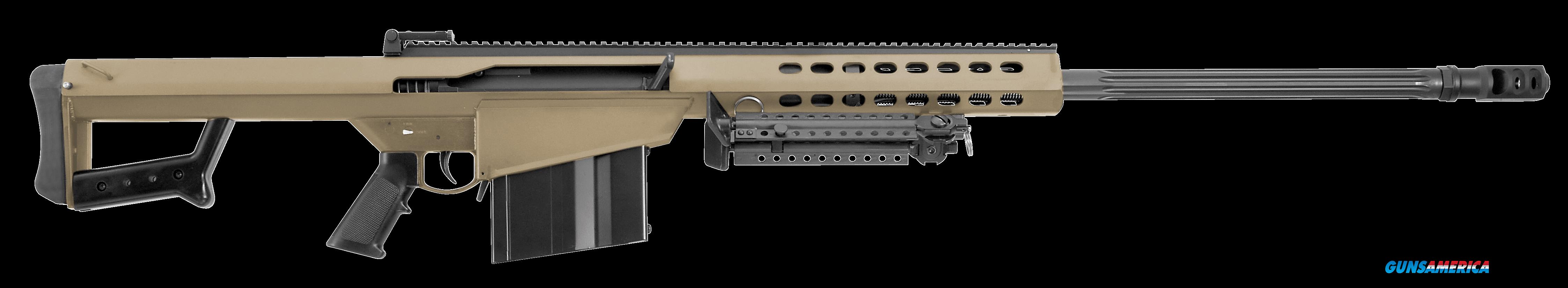 "Barrett 14029 M82 A1 Semi-Automatic 416 Barrett 29"" 10+1 Fixed Flat Dark Earth Stk FDE/Blk  Guns > Rifles > B Misc Rifles"