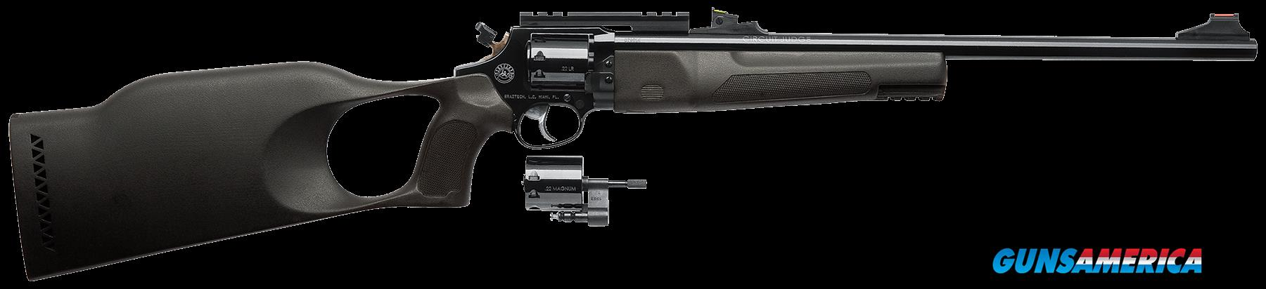 "Rossi SJ22LR22M Circuit Judge Single/Double 22 Long Rifle/22 Winchester Magnum 18.5"" 9 Synthetic  Guns > Pistols > Rossi Revolvers"