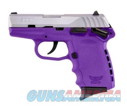 SCCY Industries CPX-1 9MM SS/PURPLE 10+1 SFTY PURPLE POLYMER FRAME  Guns > Pistols > S Misc Pistols
