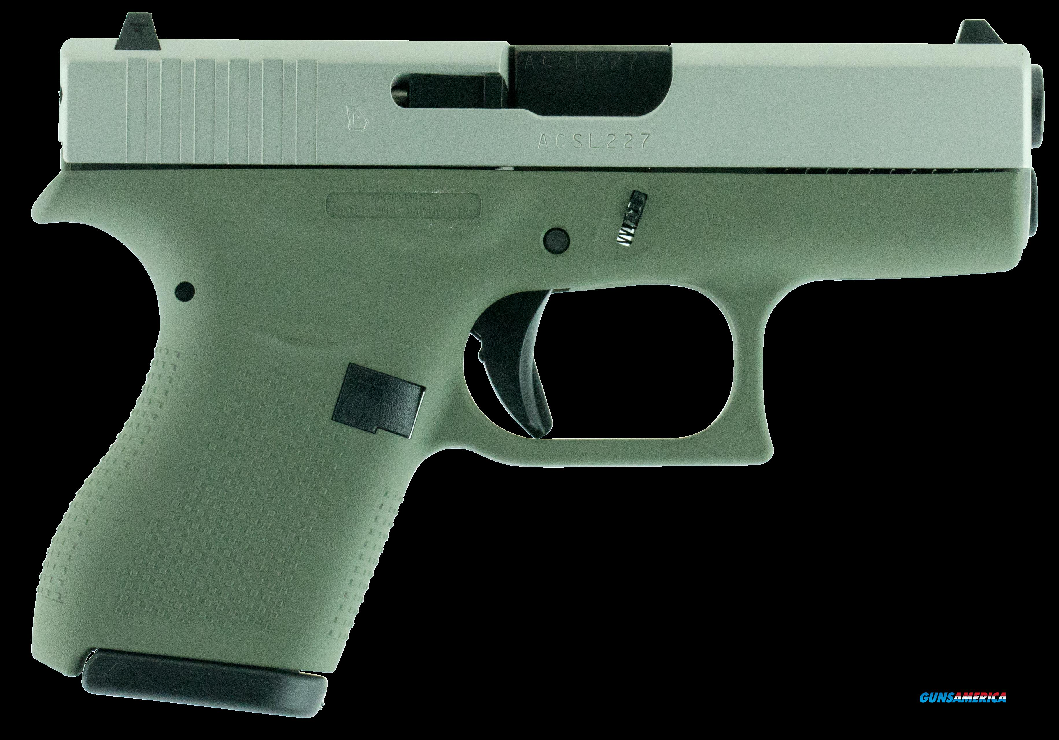 "Glock UI4250204 G42 Subcompact Double 380 Automatic Colt Pistol (ACP) 3.25"" 6+1 Forest Green Polymer  Guns > Pistols > G Misc Pistols"