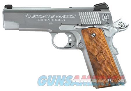 "American Classic ACC45C 1911 Commander 45 ACP Single 4.25"" 8+1 Hardwood w/MAC Logo Grip Hard Chrome  Guns > Pistols > Desert Eagle/IMI Pistols > Other"
