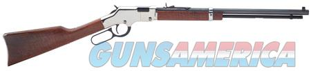 "Henry H004SM Golden Boy Silver Lever 22 Winchester Magnum Rimfire (WMR) 20"" 12+1 American Walnut Stk  Guns > Rifles > Henry Rifles - Replica"