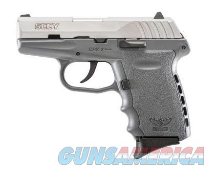 SCCY Industries CPX-2 9MM SS/GRAY 10+1 GRAY POLYMER FRAME|NO SAFETY  Guns > Pistols > S Misc Pistols