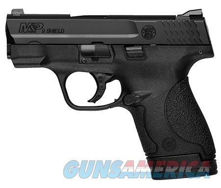 "Smith & Wesson 10038 M&P 9 Shield *MA Compliant 9mm Luger 3.10"" 7+1/8+1 Black Polymer Grip/Frame  Guns > Pistols > Smith & Wesson Pistols - Autos > Shield"