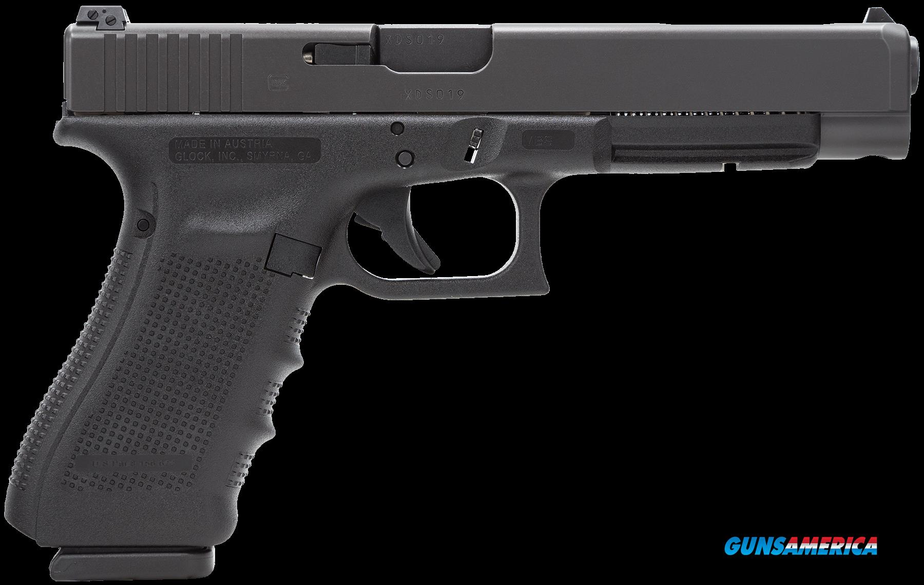"Glock PG3430101 G34 Gen 4 Double 9mm Luger 5.31"" 10+1 Black Interchangeable Backstrap Grip Black  Guns > Pistols > G Misc Pistols"