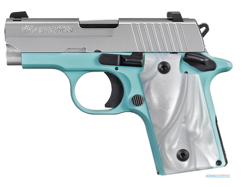 SIG SAUER P238 380ACP SS/ROBINS EGG BLUE 238-380-REB  Guns > Pistols > S Misc Pistols